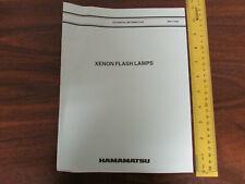 Hamamatsu Technical Information Xenon Flash Lamps 17pp 1993