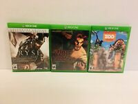 Xbox One 3 Lots#3 The Wolf Among Us/ Ryse Son Of Rome/ Zoo Tycoon Videogames