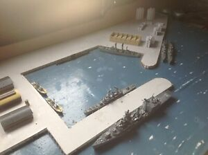 1/700 Dockyard Model of HMS Tamar, roughly to scale. Pre planed model