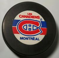 MONTREAL CANADIENS NHL VINTAGE OFFICIAL HOCKEY PUCK VEGUM + TRENCH MFG. SLOVAKIA