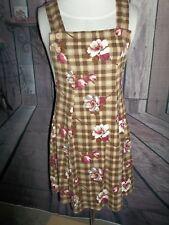 """NO BOUNDARIES"" DESIGNER Ladies Dress Small Brown and Floral"