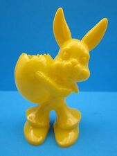 "Vintage 1950's.""Easter Bunny"" Colorful Candy Container Hard Plastic.""L@K"""