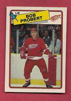 1988-89 OPC  # 181 RED WINGS BOB PROBERT ROOKIE NRMT+  CARD
