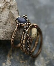 Anthropologie Antique Gold Knuckle Rings - Set of 4 **NEW**