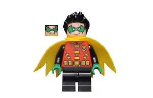 Lego Robin 76159 Green Mask Yellow Scalloped Cape Super Heroes Minifigure