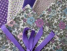 Flowers & Plants Striped Quilting Craft Fabrics