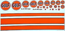 Gulf Sponsoren Bogen No.5 - 1:43 Decal Abziehbilder