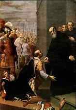 RELIGION Motiv-Postkarte Benedetto Norcia Basilica Kirche Benediktus und Totila