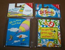 2x Dr Seuss Little Notebook Hardback 82 Pages Green Eggs & Ham Oh The Places You