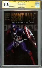 Secret War #3 CGC 9.6 NM+ SIGNED CHRIS EVANS Captain America Gold Foil Logo
