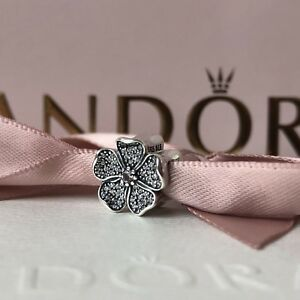 Genuine PANDORA Sterling Silver Sparkling Apple Blossom ~ NEW in Pouch 791831NBP