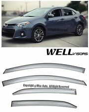 For 14-16 Toyota Corolla WellVisors Side Window Visors Premium Series