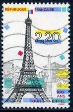 TIMBRE FRANCE OBLITERE N° 2580 PANORAMA DE PARIS / LA TOUR EIFFEL CENTENAIRE