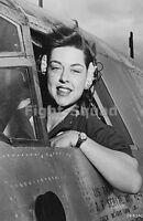 WW2 Picture Photo 1943 WASP pilot Elizabeth L Gardner at B-26 Marauder bomb 1720