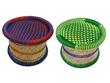 Ecofriendly handmade bamboo stick & colourful rope made mudha in new trande 2pc.