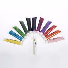 12ml 3D Paint Tube Draw Painting Acrylic Nail Art Tip UV Gel Tool Set 12 Colors