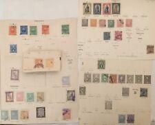 Paraguay Konvolut Lot Uralte Briefmarken auf losen Blättern, Sammlernachlass