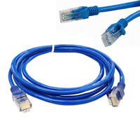 Blue Ethernet Internet LAN CAT5e Network Cable for Computer Modem Router