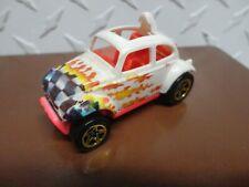 Loose Hot Wheels White w/Graphics Volkswagen Baja Bug