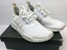a5ecd51352617 Adidas NMD R1 Primeknit Tokyo Japanese Triple White Boost Shoes Mens Size 8