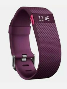 """Fitbit Charge HR Wireless Activity Wristband Plum Sz Large (6.2"""" - 7.6"""")  *NEW*"""