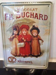 ⛔#Plaque# murale Métal15x21 neuf Rétro Vintage #Publicitaire# #chocolat# SUCHARD