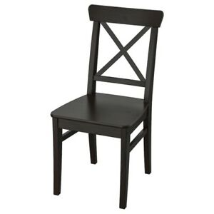 Brand New IKEA INGOLF Black Brown Solid Wood Dining Chair 602.178.22