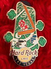 Hard Rock Cafe Pin Las Vegas GUITAR HEAD STOCK Craps Table DICE poker chips hat