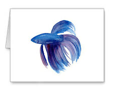 Betta Fish Note Cards With Envelopes