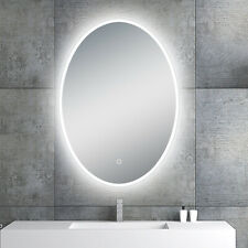 "LED Backlit Illuminated Mirror 20"". Wall Mounted for Bathroom, Makeup."