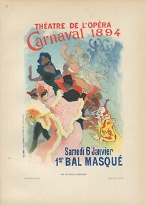Jules Cheret CARNAVAL1894 Original  Lithograph from Les Affiches Illustrees 1896
