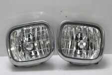 JDM Subaru 97-02 SF5 SF9 Forester OEM Clear Fog Light CHROME TRIM Spotlight Pair