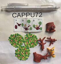 K97-5 + cartina Uccellini componibile ovetto  kinder sorpresa