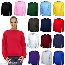 Ladies Sweatshirt Size UK 10 to 28 Plus Unisex Loose Fit 300gsm Plain NEW