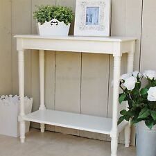 Ivory cream console table with shelf Hallway table WAS £129.99
