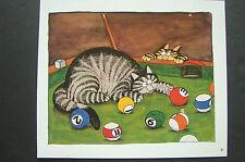 """COLOR KLIBAN CAT CARTOON PRINT - """"MINNESOTA FATS CATS """" - KILBAN"""