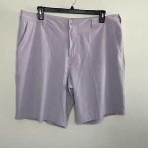 Champion Sz 40 W Purple Golf Shorts EUC Flat Front Lightweight Athletic Stretch