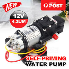 High Quality 12V Water Pump 4.3Lpm Self-Priming Caravan Camping Boat FAST POST
