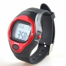 SSG Nuovo Rosso Nero Impermeabile Sport Heart Rate Monitor calorie contatore Orologio