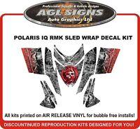 POLARIS IQ RMK DRAGON SKULL SLED WRAP DECALS 2005 - UP switchback assault rush