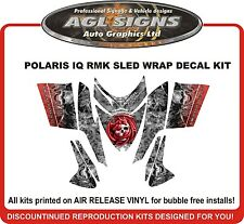 POLARIS IQ RMK DRAGON SKULL SLED WRAP DECALS 2005 - UP switchback assault rush