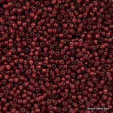 15/0 Silver-Lined Milky Pomegranate TOHO Round Glass Seed Beads 10 grams #2113