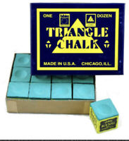 12 PIECES GREEN TWEETENS TRIANGLE CHALK.. FREE  DELIVERY