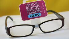 New $19.99 Foster Grant Designer Women Reading Eyeglasses-+2.00-Victoria Red