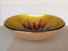 New Hand Painted Style Tempered Glass Bath Bathroom Vessel Sink Bowl CH9307