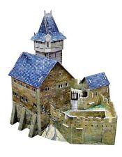 Cardboard model kit. The medieval town. Hunting castle. Wargame landscape