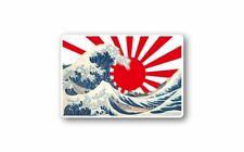 Autocollant sticker vinyl made in japan drapeau japon rising sun vague