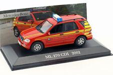 Mercedes-Benz ML 270 CDI Baujahr 2002 Feuerwehr Kommandowagen rot 1:43 Altaya