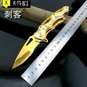 "Drop Point Folding Knife Pocket Flipper Hunting Wild Survival Tactical Combat 3"""