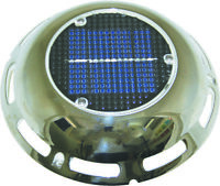 Solar Vent- Stainless Switch & Re- Charging Battery Boat Caravan Camper